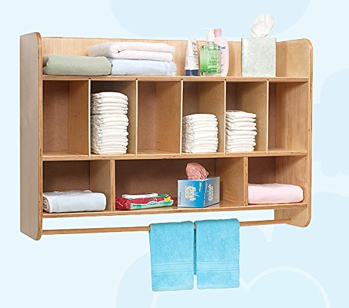 """Whitney Brothers Wall Mounted Diaper Storage with Bonus Stand Steady Kid's Guide! 