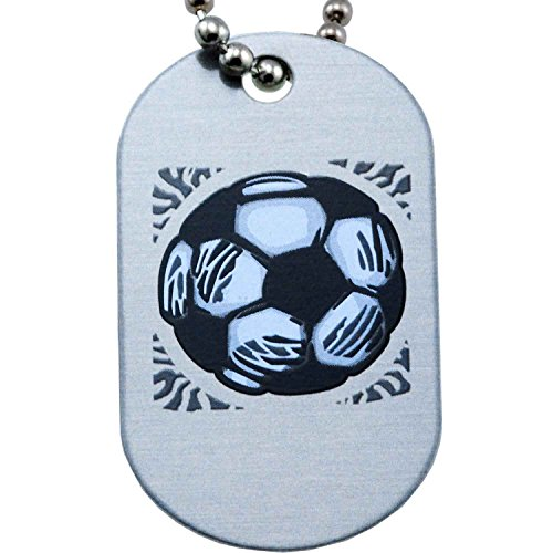 Soccer Mini Dog Tag Necklace - I Can Do All Things Through Christ