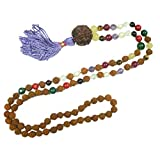 Yoga Gifts- Tarini Jewels Nine Planets Navratna Chakra Japa Mala 108+1 Beads Necklace