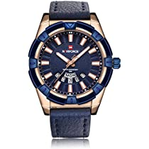 Naviforce Prince of Charm Pure Blue Belt Wrist Watch for Men