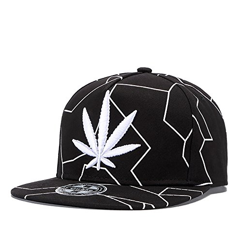 aad47c464d1 ChezAbbey Solid Flat Brim Hip Hop Adjustable Hat Stylish Snapback Baseball  Cap