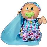 "Cabbage Patch Kids 12.5"" Naptime Babies - Blonde Hair/Blue Eye Girl (Lavendar Sleep Sack)"