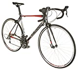 Vilano FORZA 4.0 Aluminum Integrated Shifters Road Bike, Black, 49cm/Small
