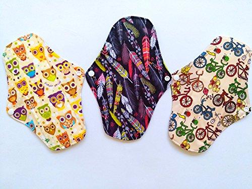 325, 4cm anthrazit Bambus Tuch wiederverwendbar waschbar Pads Menstruationstasse Damenbinden Slipeinlagen 325 China MC-3PCS01