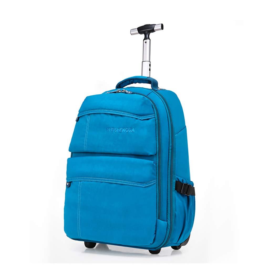 学校のラップトップバッグを旅する少年のためのトロリーバックパック大容量ストレージウィールドローリングバックパック防水旅の荷物   B07NMF454F