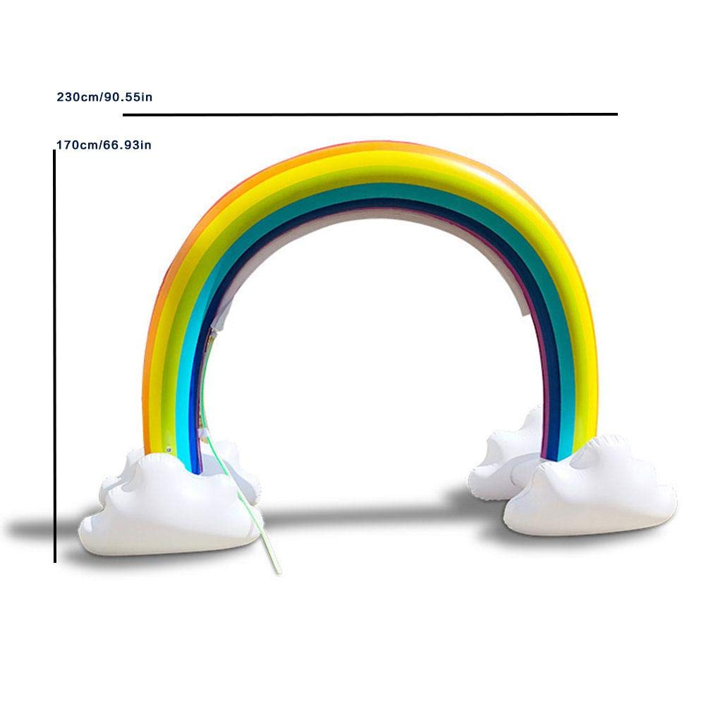 Highjump Inflatable Rainbow Yard Summer Sprinkler Toy, Children's Rainbow Portable Outdoor Water Play Sprinklers Toys,Perfect for Child Adult Baby Games Center by Highjump (Image #7)