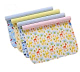 4 Pack Monvecle Baby Infant Waterproof Bamboo Cotton Changing Pads Washable Resuable Diapers Liners Mats (4 Pack-18'x14')