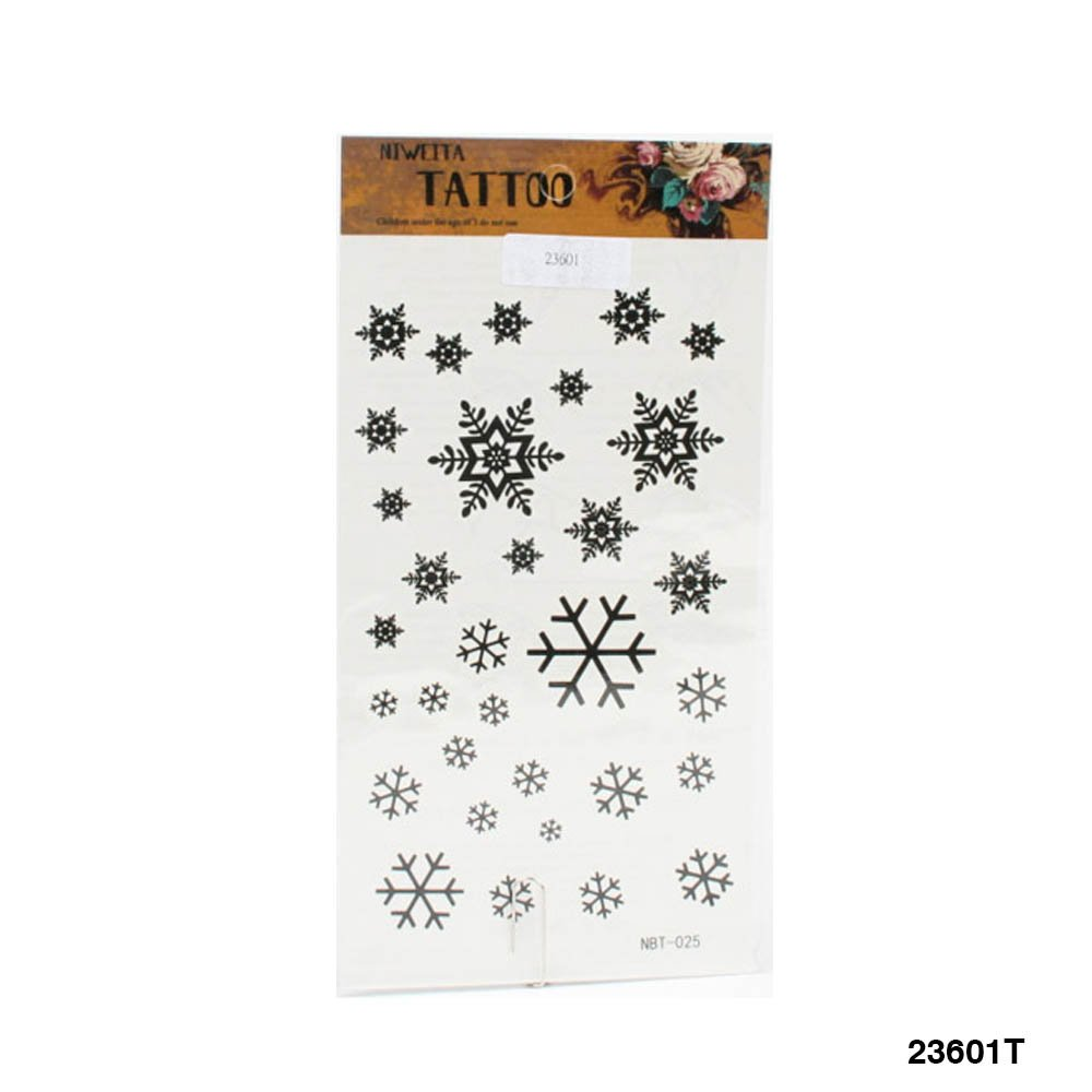 Zeitzone – Tatuajes con diferentes copos de nieve en negro: Amazon ...
