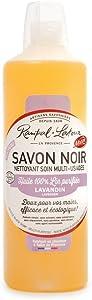 Liquid Black Soap Linseed Oil and Lavender Organic Multi Purpose Cleaner 1 Liter Bottle - Rampal Latou