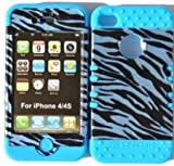Cell Armor IPHONE4G-RSKIN-LB Rocker Silicone Skin Case for iPhone 4/4S – Retail Packaging – Light Blue, Best Gadgets