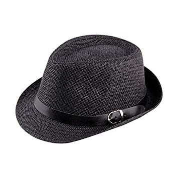 af09f16e5915f HarveyRudol265 Stylish Hat Summer Straw Hat Cap Topee Fedora Trilby Panama  Hat Cap Jazz Hat  Amazon.co.uk  Sports   Outdoors