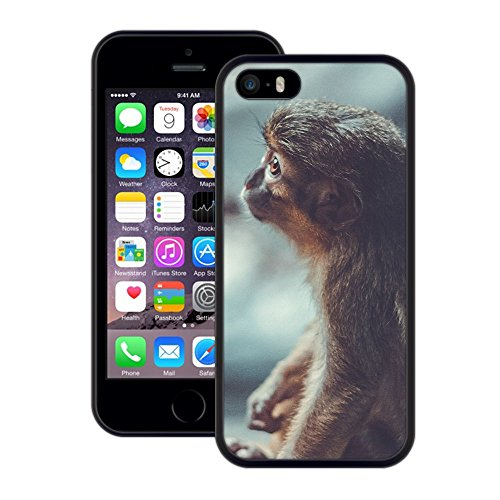 Affe | Handgefertigt | iPhone 5 5s SE | Schwarze Hülle