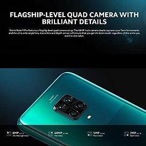 "Xiaomi Redmi Note 9 Pro Smartphone - 6.67"" DotDisplay,6 GB + 128 GB, 64 MP AI Quad Camera, 5020 mAh (type) NFC, Grigio (Interstellar Grey)"