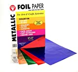 Metallic Foil Paper, 10 x 13 Inch, 50 Sheets, Assorted Colors
