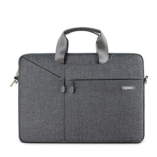 (Laptop Bag 13-13.3 inch Oxford Fabric Portable Laptop Sleeve Case for Men Women Messenger Bag Notebook with Shoulder Strap and Multiple)