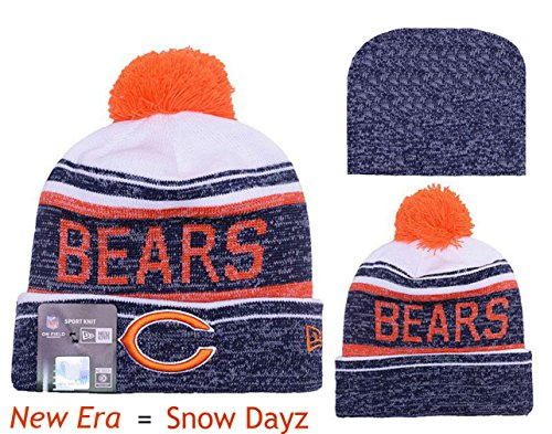 Bears Head Coach (Chicago Bears Snow Dayz Players Sideline Series Knit POM Beanie Hat Cap - Team Colors)