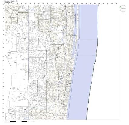Amazoncom Boynton Beach Fl Zip Code Map Laminated Home Kitchen