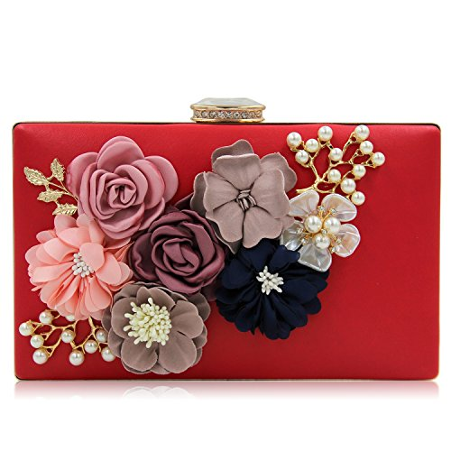 The Silk Flower with Pearl Women's Bridal Evening Bags - 1