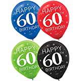 Happy 60th Birthday Party Balloons Collection, Set of 30
