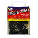 The Pencil Grip Pencil Grip The Classics Binder Clip, 15 Count Mixed Box (11 Small, 4 Medium), Black (TPG-181)