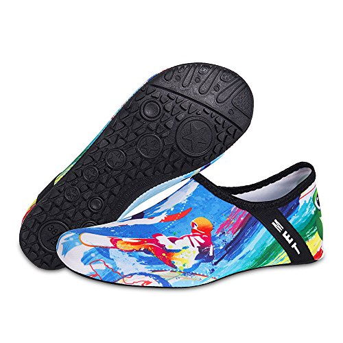 for Water Barefoot Womens Exercise and Socks Beach Dry Surfing Surf Shoes Quick Blue Aqua Yoga Mens Swim Kids XwxvqCRx