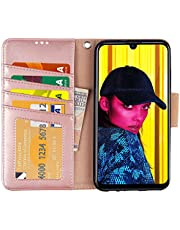 Arae case Compatible With Huawei P Smart 2019, PU Leather Phone Case With Card Slots and Wallet, Black