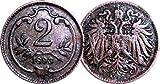 1893 Austrian 2 Heller -- Very Fine+