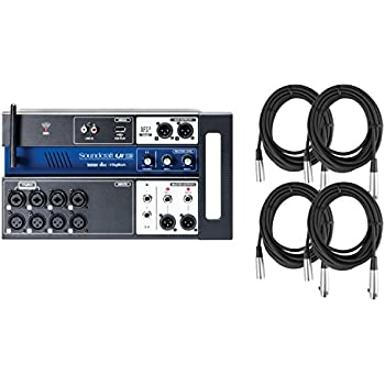 soundcraft ui 12 tablet pc smartphone controller digital mixer w 4 20 39 xlr cables. Black Bedroom Furniture Sets. Home Design Ideas