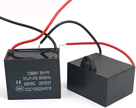 Ventilador CAPACITOR CBB61 10uf 450V 2 cables: Amazon.es ...