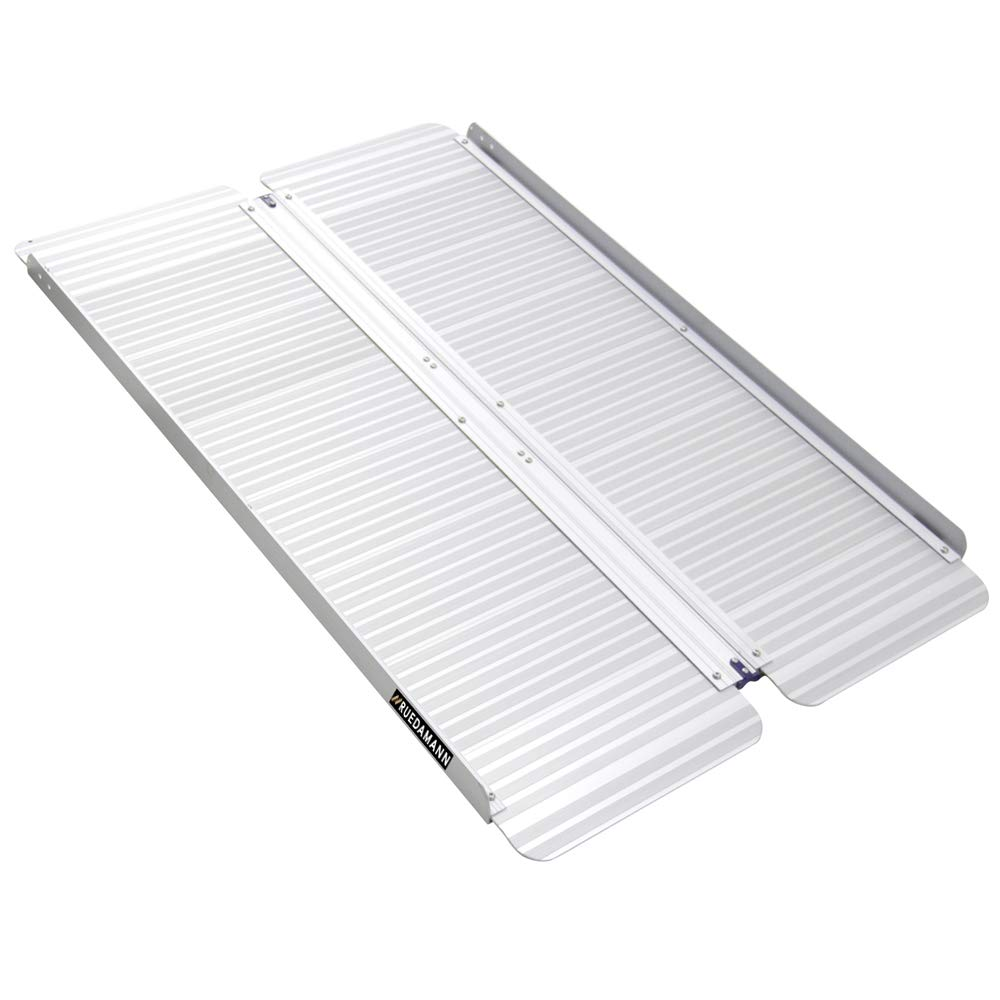 Ruedamann 4' x 28.3'' Aluminum Folding Portable Wheelchair Ramp (MR607M-4)