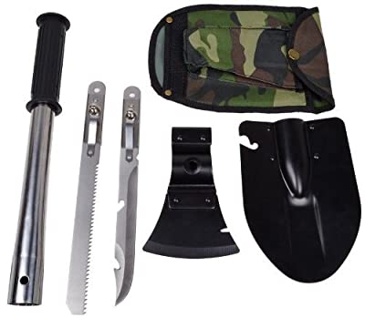 9-in-1 Military Ultimate Survival Kit Tools Emergency Camping Hiking Knife Shovel Axe Saw Gear Kit Tools Backpacking , Fishing, Trench Entrenching Tool, Car Emergency Shovel from PanelTech Ltd