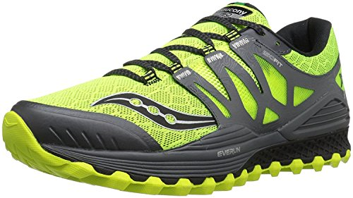 Saucony Mens Xodus Iso Trail Runner, Nero/Giallo, 43 D(M) EU/8.5 D(M) UK