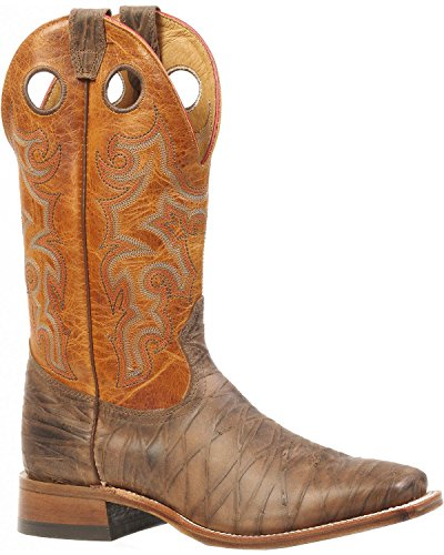 Boulet Mens Stockman Cowboy Boot Fyrkantig Tå - 3209 Brun