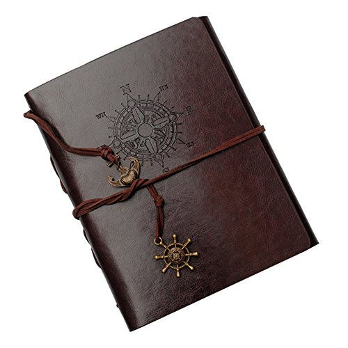 Insho 60 Pages Scrapbook DIY Vintage Leather Photo Mini Album Book, Handmade DIY Photo Album, Anniversary Scrapbook, Wedding Photo Album – Dark Brown