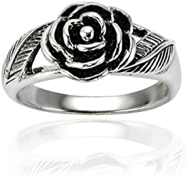Fashion Jewelry Tjs 925 Sterling Silver Toe Ring Blue Green Flower Design Adjustable Jewellery Toe Rings