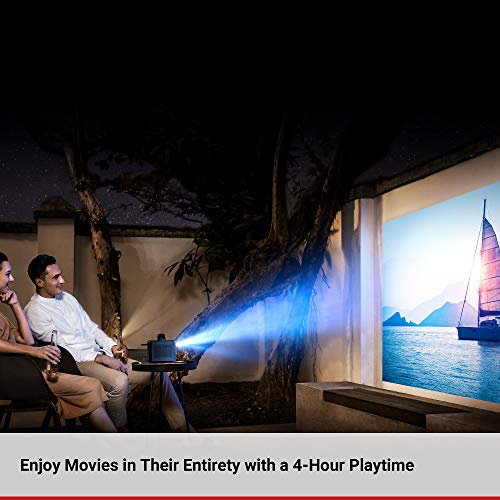 Nebula, by Anker, Mars II 300 ANSI Lumen Home Theater Portable Projector with 720p 30 to 150 Inch DLP Picture, Outdoor Projector, 10W Speakers, Android 7.1, 1-Second Autofocus, Movie Projector