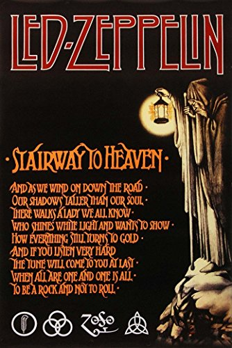bribase shop Led Zeppelin Stairway To Heaven Domestic Poster