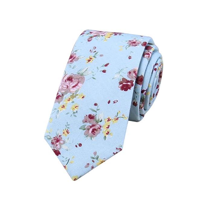 JUNGEN Corbata Estampada de Flores para Hombre Corbata de Informal ...