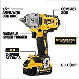 DEWALT 20V MAX XR Impact Wrench Kit, Hog Ring