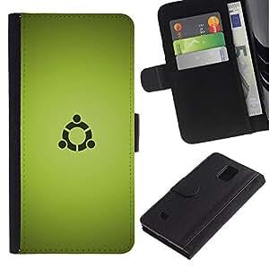 YiPhone /// Tirón de la caja Cartera de cuero con ranuras para tarjetas - Portal sesión - Samsung Galaxy Note 4 IV