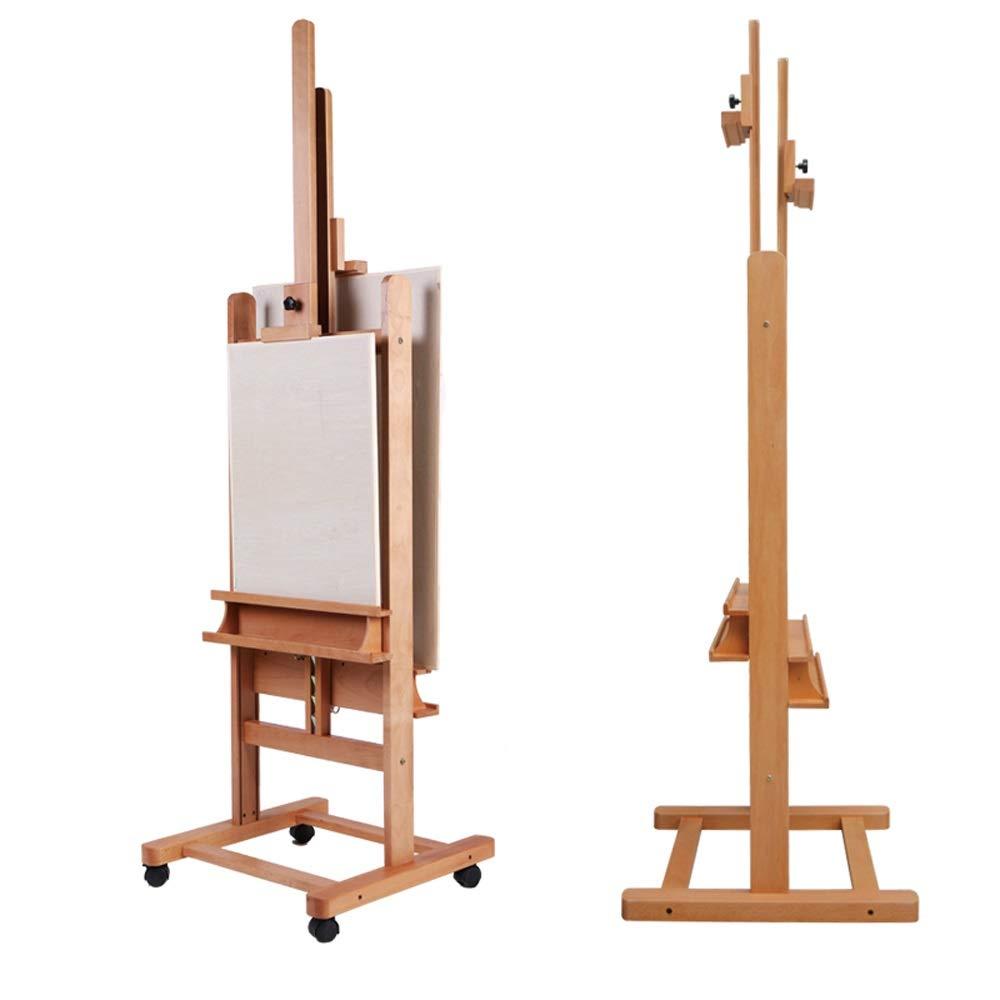 LI MING SHOP イーゼル床多機能両面イーゼルオイルイーゼル木製純木フロアディスプレイスタンド木製イーゼルスケッチ中国イーゼル   B07QKZW8QL