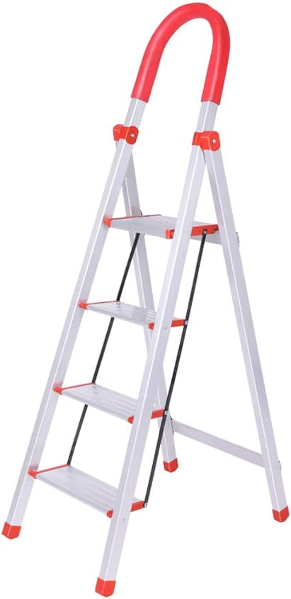 Yang baby Aleación de Aluminio Escalera doméstica Escalera de Cuatro escalones Escalera móvil Escalera Escalera de Acero Inoxidable Escalera Taburete: Amazon.es: Hogar