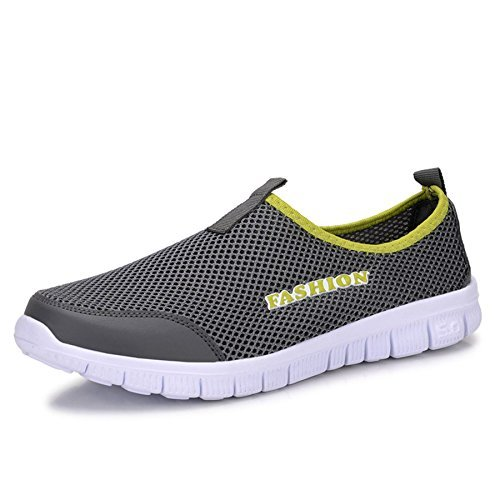 WELMEE Men's Breathable Comfortable Sneakers Lightweight Casual Slip-On Loafers Tennis Walking Running Shoes US6-12