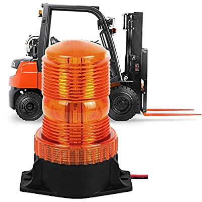 Emergency Strobe Light Vehicle Roof Safety Hazard Light for Forklift Truck Tractor Golf Carts UTV Car Bus(30 LED Amber/Yellow 30W): Automotive