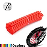 Motorcycle Spoke Skins, 72pcs/lot 17cm Universal Colorful Motocross Dirt Bike Spoke Covers for 8''-21'' Rims Kawasaki KX KL-XF KLR KL R-Z400S SM RM2 F750GS Honda CRF XL XLR XR KTM Yamaha XT250-600 WRF
