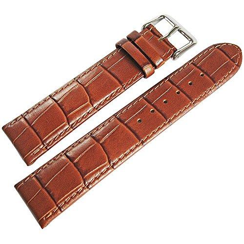 Di-Modell Bali 22mm Tan Alligator-Grain Leather Watch Strap (Tan Alligator Grain)