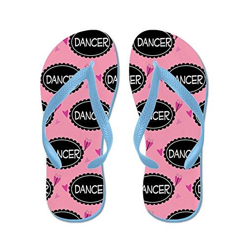 Cadeau De Danseur Mignon Cafepress - Tongs, Sandales String Drôle, Sandales De Plage Bleu Caraïbes