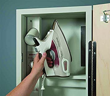 Hot Iron Storage and No Door-NE46NDU Iron-A-Way Built-In Ironing Center with 46 Inch Ironing Board
