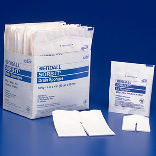 Drain Sponge Curity Gauze 4 X 4 Inch Square Sterile Qty (Kendall Curity Drain)