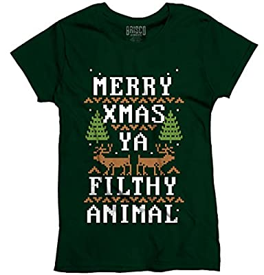 Merry X Filthy Animal Ugly Christmas Sweater Funny Gift Ideas Ladies T-Shirt